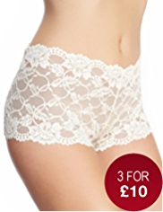 High Rise All-Over Floral Lace Shorts
