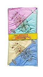 Milano Light colour Cotton handkerchiefs for women - Pack of 6 pcs
