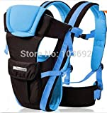 2-30 Months Breathable Multifunctional Front Facing Baby Carrier Infant Comfortable Sling Backpack Pouch Wrap Baby Kangaroo (Blue)