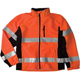 ML Kishigo WB101 Polyester Black Series Windbreaker High-Viz Jacket with Adjustable Cuffs, 4X-Large, Orange