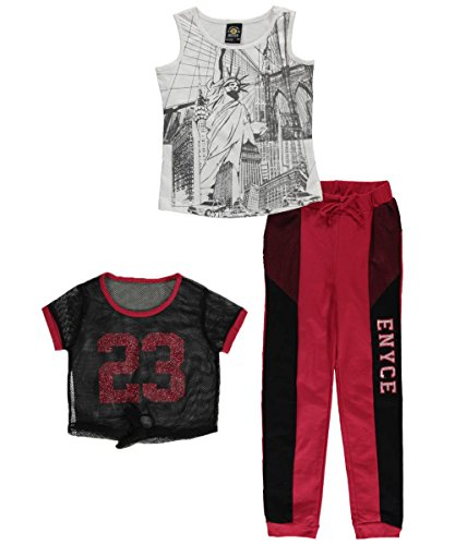 "Enyce Big Girls' ""Lady Liberty"" 3-Piece Outfit - black/red, 14 - 16"