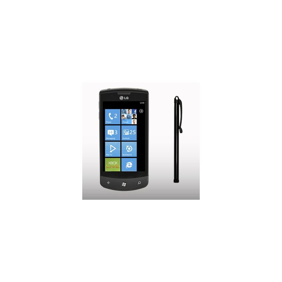 LG E900 OPTIMUS 7 BLACK CAPACITIVE TOUCH SCREEN STYLUS PEN BY CELLAPOD CASES