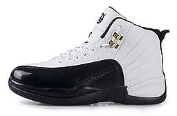 JiYe Performance Sports Shoes Women\'s Men\'s Running Shoes,Fashion Sneskers,Basketball Shoe,Black,11.5US-Women/10.5US-Men