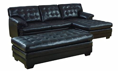 Sale homelegance 9739 channel tufted 2 piece sectional for Homelegance 2 piece sectional sofa