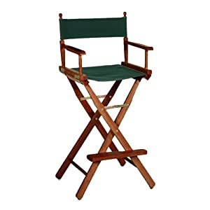 "Directors Chair Tall Frame / Bar Stool Frame, 30""H, HONEY"