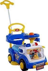 Correpasillos y andados para bebes - Portador con funcion empuja -Tire del juguete - Coche para bebe - Coches para ninos - Baby car ARTI Fire Engine 530W Blue Ride-On Activity Toy