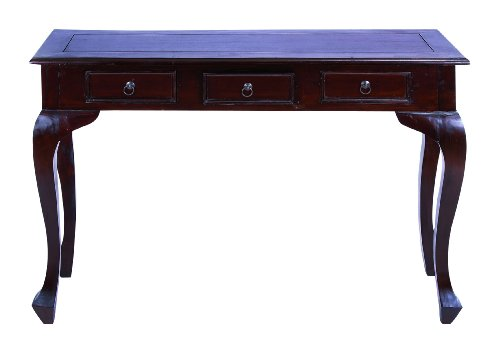 Cheap Traditional Wooden Console Table with Metal Pulls & Curved Legs (B009D4VEDQ)