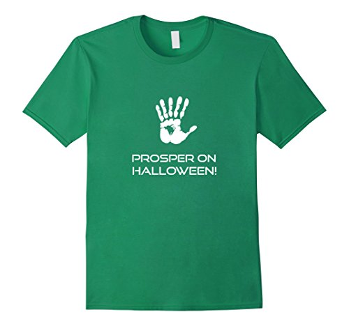 [Men's 6 Fingers Prosper On Halloween Costume T-Shirt Tee 3XL Kelly Green] (Last Minute Awesome Halloween Costumes)