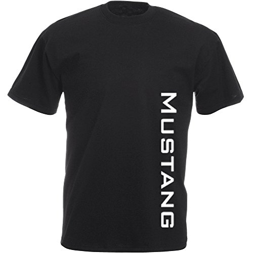 "'Fun T-Shirt: Ford Mustang scritta "" nero XXL"