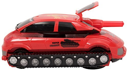 Techege Toys Techege Toys TankCAR! Car Transforms to Tank with fun lights and sounds! Great for kids! Cool gift! Futuristic battle field