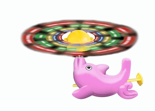 WeGlow International Pink Light Up Spinning Dolphin Toy, Pack of 4 - 1