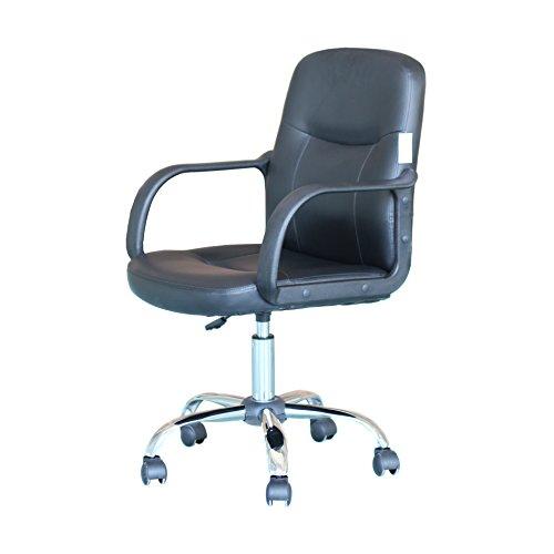Office swivel chair ergonomic height adjustable pu leather - Average office desk height ...