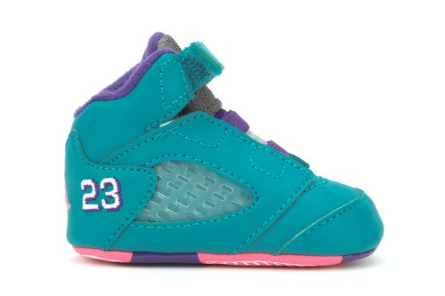 Nike (Gp) Crib Jordan 5 Retro Basketball Shoes, Blue, 3 M Us