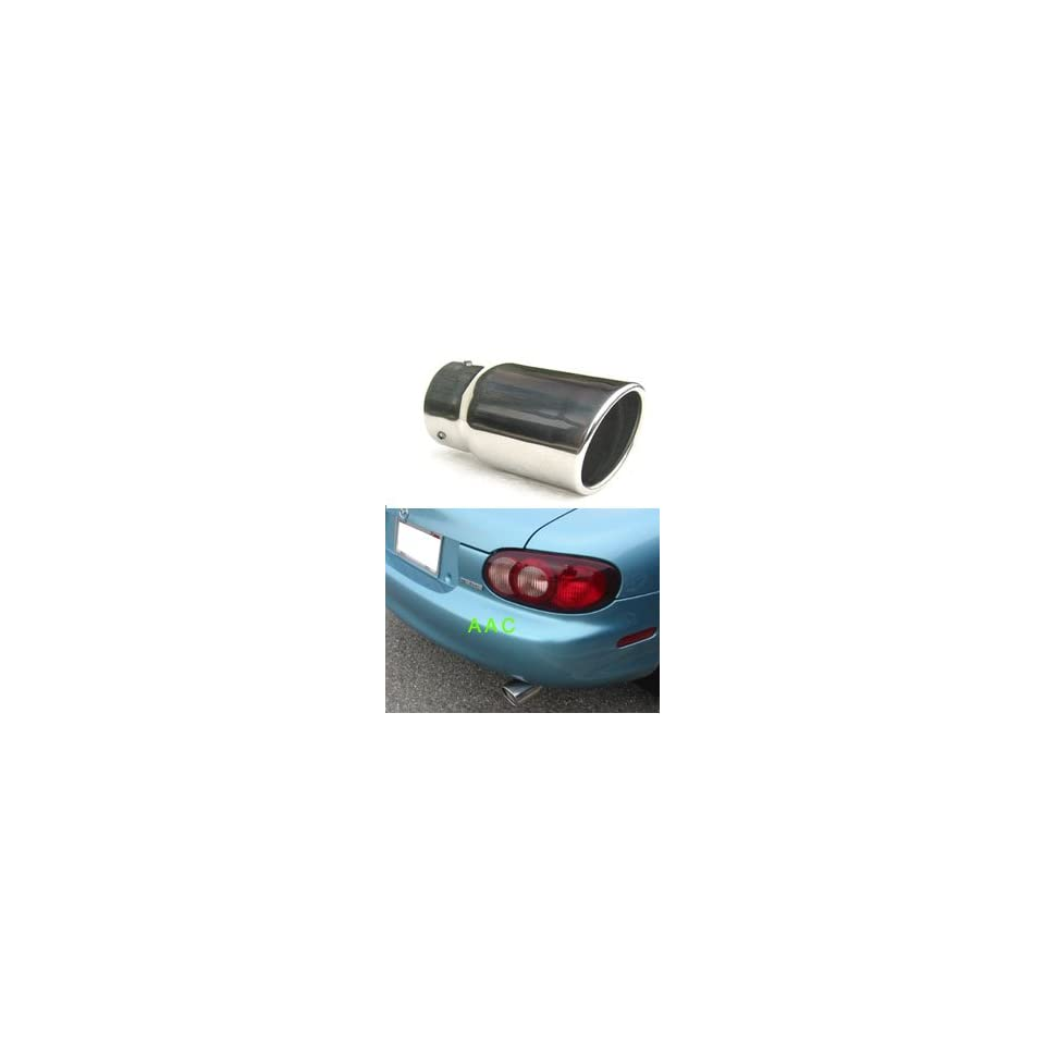 Stainless steel exhaust tip w/ polish finish   Mazda Miata