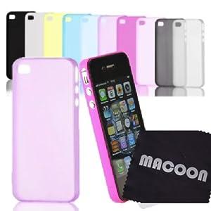 Custodia per Apple iPhone 5 & iPhone4 e 4S Backcase/ Cover ultra-sottile (0,35mm/3g) MACOON Color Line, colore:trasparente;modello:iPhone 4 & 4S