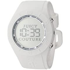 Juicy Couture Womens 1900880 Sport Couture Digital White Jelly Strap Watch