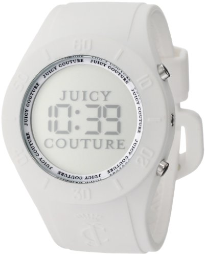 Juicy Couture Women's 1900880 Sport Couture Digital White Jelly Strap Watch