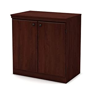 South Shore Morgan Collection Storage Cabinet, Royal Cherry Finish