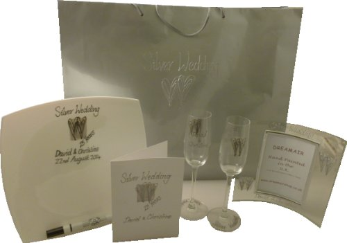 PERSONALISED Silver Wedding Gift Pack(free postage in the UK)