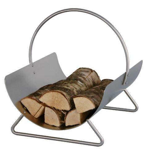 schale f r kaminholz kaminholzschale 2 st ck edelstahl. Black Bedroom Furniture Sets. Home Design Ideas