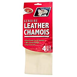 Detailer\'s Choice 10X02450 Genuine Leather Chamois - 4.5-Square/Feet - 1-Each