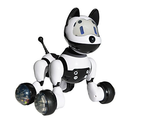 Jenx Robot Interactive Puppy | Voice Recognition Intelligent Electronic Toy Dog | Gesture Sensing Talk Sing Dance Wake-up Sleep Laugh Bark Wagging Tail Scoot Around | Don't Wait and Adopt Me Now! (Animal Robot For Kids compare prices)