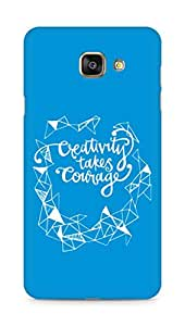 AMEZ creativity takes courage Back Cover For Samsung Galaxy A7 (2016 EDITION)
