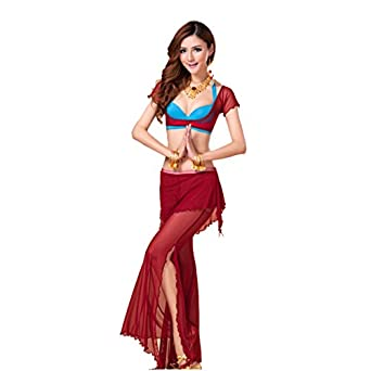 H:oter Gauze Belly Dancing Costumes Set--A Three-Piece , Price/Set