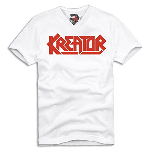 E1SYNDICATE KREATOR V-NECK T-SHIRT GERMAN THRASH METAL SLAYER PANTERA S/M/L/XL