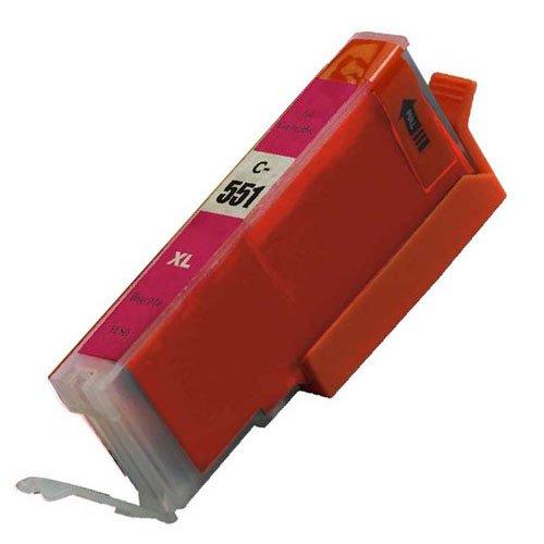 Magenta, 1 x CLI 551 High Capacity Kompatible Tintenpatronen für Canon Pixma iP7250 iP8750 iX6850,,, MG5650, MG5450, MG5550, MG6350, MG6450, MG7150, MG6650, MG7550, MX725, MX925
