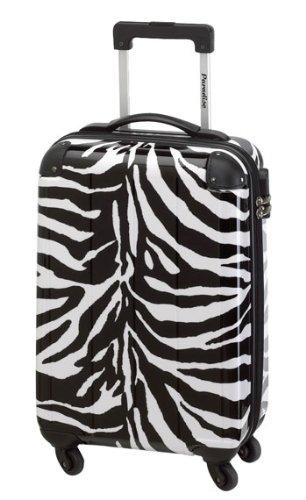 Koffer Trolley Reisekoffer Hartschale im Wild-Zebra-Design