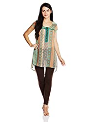 Fusion Beats Women's Tunic Top (E515RINA06M GREEN_XL)