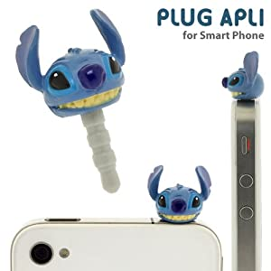 Plug Apli Disney Character Earphone Jack Accessory (Stitch)