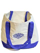 Shri Yantra 12 oz. Canvas Boat Tote in Royal Blue