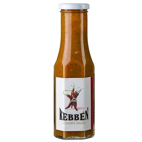 Kebben's scharfe Sauce, als Grillsauce und Marinade, 250ml.