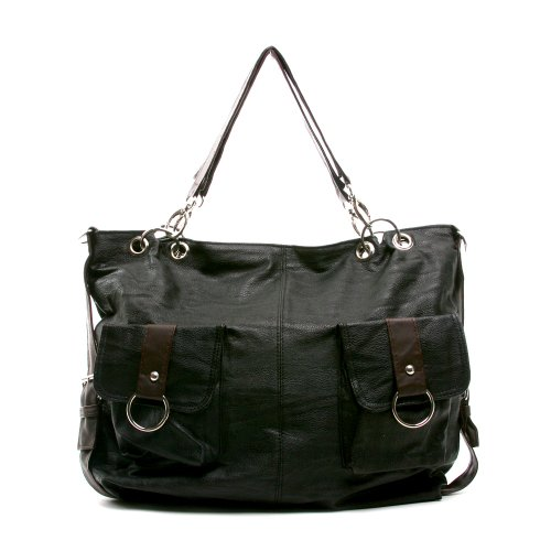 Black and Brown Stylish Hobo Styled Handbag Shoulder Purse