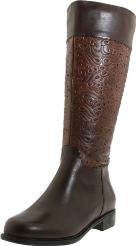 David Tate Women's Bronco Wide Shaft,Brown Calf,6.5 WW(EE) US