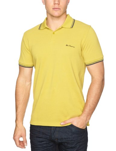 Ben Sherman Romford Short Sleeve Pique Polo MA2600M Men's T-Shirt Sulphur Large