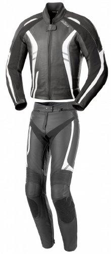 Büse Jerez Damen Lederkombi 2tlg., Farbe schwarz-grau-weiss, Größe D40
