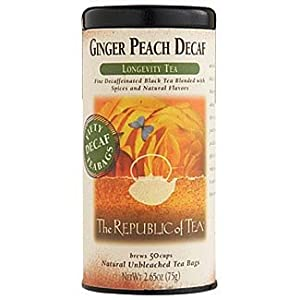 The Republic of Tea, Ginger Peach Black Decaf Tea, 50-Count from The Republic of Tea