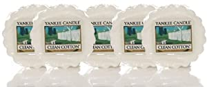Yankee Candle Wax Tart (Clean Cotton) - Box of 24 Tarts by Yankee Candle