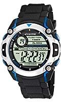 Calypso watches - K5577/2 - Montre Garçons - Quartz - Digitale - Alarme/Chronomètre/Eclairage - Bracelet Caoutchouc Noir