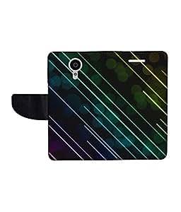 KolorEdge Printed Flip Cover For Gionee Elife E7 -Multicolor (55KeMLogo10946GioneeE7)