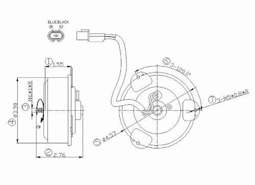 Condenser Fan Motor For 1997-2002 Mitsubishi Mirage - 630900