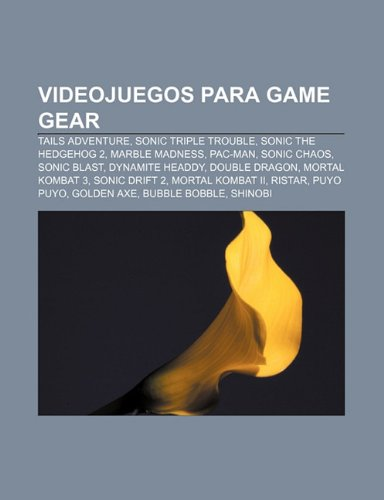 Videojuegos para Game Gear: Tails Adventure, Sonic Triple Trouble, Sonic the Hedgehog 2, Marble Madness, Pac-Man, Sonic Chaos, Sonic Blast (Spanish Edition)