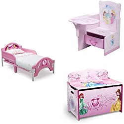 Disney Princess 3-Piece Toddler Bedroom Bundle