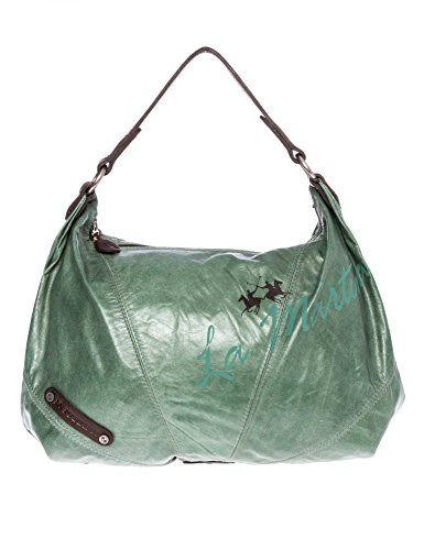 LA MARTINA Donne Shopping bag vera pelle verde one size
