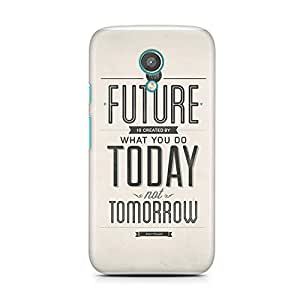 Motivatebox-Moto E2 (Second Generation) cover-Future today Polycarbonate 3D Hard case protective back cover. Premium Quality designer Printed 3D Matte finish hard case back cover.