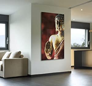 acryl glasbild wandbild hinter acrylglas acrylglas bild buddha p1457 agp 50x100 cm. Black Bedroom Furniture Sets. Home Design Ideas