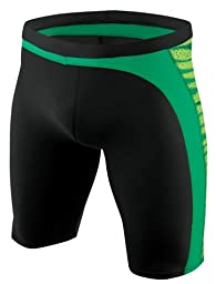 Nike Swim Men\'s Team Foil Skin Jammer Swimsuit - TFSS0008 - 300 Green Size-28